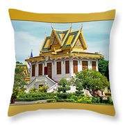 Cambodian Temples 1 Throw Pillow
