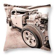 Cambra Speed Shop Throw Pillow
