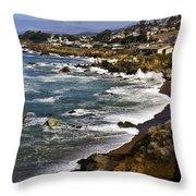 Cambria Coastline Throw Pillow