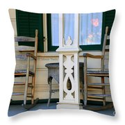 Cambria Squibb House Rocking Chairs Throw Pillow