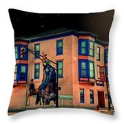 Cambridge City At Night Throw Pillow