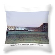 Cambridge Massachusetts - Harvard College Stadium At Soldiers Field - 1904 Throw Pillow