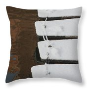 Cambridge Winter Punts Throw Pillow
