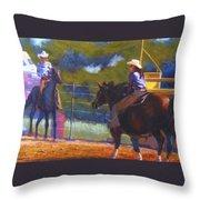 Camden Cowboy And Cowgirl Throw Pillow