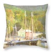 Camden Harbor Maine Throw Pillow by Carol Leigh
