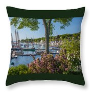 Camden Harbor Spring Throw Pillow by Susan Cole Kelly