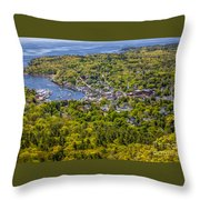 Camden Harbor View Throw Pillow