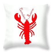 Camden Maine Lobster With Feelers 20150207 Throw Pillow