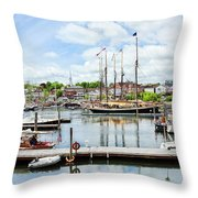 Camden Marina Throw Pillow