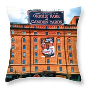 Camden Yards Throw Pillow