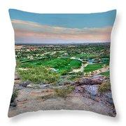 Camel Back Mountain Panoramic Throw Pillow
