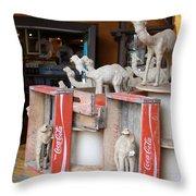 Camel Cola Throw Pillow