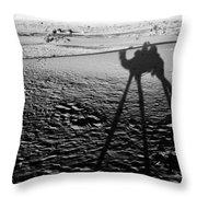 Camel Shadow Throw Pillow
