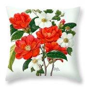 Camellia Adolf Audusson Throw Pillow