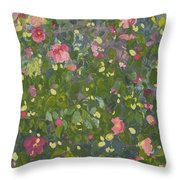 Camellia In Flower Throw Pillow