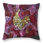 Camellia Rain Throw Pillow