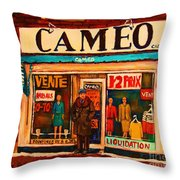 Cameo Dress Shop Throw Pillow
