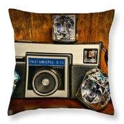 Camera - Kodak Instamatic Throw Pillow