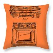 Camera Patent 1953 Throw Pillow