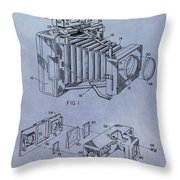 Camera Patent Throw Pillow