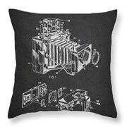 Camera Patent Drawing From 1963 Throw Pillow