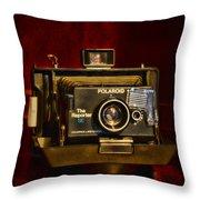 Camera - Polaroid  The Reporter Se Throw Pillow