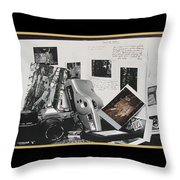 Camera Timeline Of A Photographer Throw Pillow