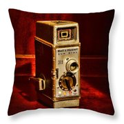 Camera - Vintage Bell And Howell Sun Dial 319 Throw Pillow