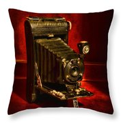 Camera - Vintage Kodak Pocket Camera Throw Pillow