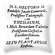 Camerarius Title Page, 1694 Throw Pillow