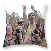 Cameras In The Crowd Throw Pillow