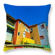 Caminito In Buenos Aires Throw Pillow