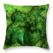Camoflauged Octopus Throw Pillow