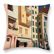 Camogli - Homes And Promenade Throw Pillow