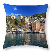 Camogli From The Sea Throw Pillow