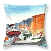Camogli In Italy 02 Throw Pillow