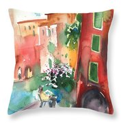Camogli In Italy 12 Throw Pillow