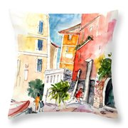 Camogli In Italy 13 Throw Pillow