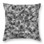 Camouflage Gray Black And White Cross Throw Pillow