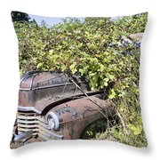 Camouflaged Car Throw Pillow