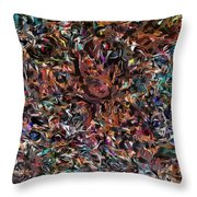 Camouflaged  Throw Pillow