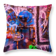 Camouflaged Pipework Throw Pillow