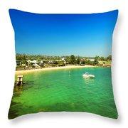 Camp Cove 01 Throw Pillow