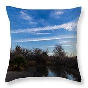 Camp Davis River Throw Pillow