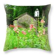 Camp Dennison Garden Throw Pillow