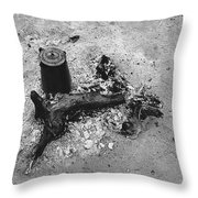 Camp Fire Fall Cattle Round-up Tohono O'odham Indian Reservation Near Sells Arizona 1969 Throw Pillow
