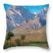 Camp Independence Colorado Throw Pillow by Albert Bierstadt