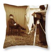 Camp Photographer Throw Pillow