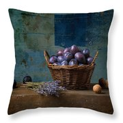 Campagnard - Rustic - S01obv Throw Pillow by Variance Collections