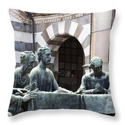 Campari Grave Marker Detail IIi Disciples Last Supper Throw Pillow